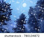 christmas winter forest... | Shutterstock . vector #780134872