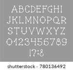 capital letters and digits of... | Shutterstock .eps vector #780136492