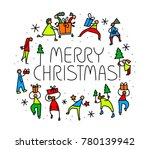 christmas greeting card with... | Shutterstock .eps vector #780139942