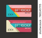 gift voucher 100 discount sale...   Shutterstock .eps vector #780145795