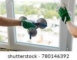 vacuum suction lifter. hand... | Shutterstock . vector #780146392
