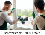 young guys installing a window. ...   Shutterstock . vector #780147526