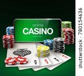 illustration online poker... | Shutterstock .eps vector #780154636