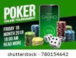 vector online poker casino... | Shutterstock .eps vector #780154642