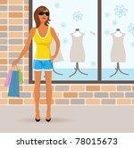 illustration beautiful girl on...   Shutterstock .eps vector #78015673