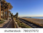 view of santa monica beach ... | Shutterstock . vector #780157072