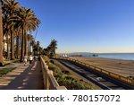 view of santa monica beach ... | Shutterstock . vector #780157072