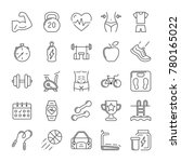 fitness and sport icons set.... | Shutterstock .eps vector #780165022