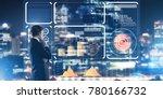 back view of businessman... | Shutterstock . vector #780166732