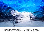 traveler in ice cave  man... | Shutterstock . vector #780175252
