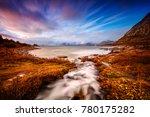 beautiful landscape of lofoten  ... | Shutterstock . vector #780175282