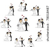 wedding cartoon characters  ... | Shutterstock .eps vector #78018487