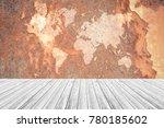 metal rust wall texture... | Shutterstock . vector #780185602