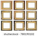 group of vintage wooden picture ... | Shutterstock . vector #780190102