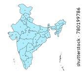 illustration of detailed map of ... | Shutterstock .eps vector #780199786