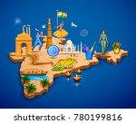 illustration of detailed 3d map ... | Shutterstock .eps vector #780199816