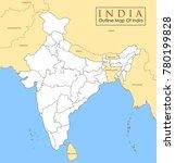 illustration of detailed map of ... | Shutterstock .eps vector #780199828