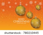 christmas light vector... | Shutterstock .eps vector #780210445