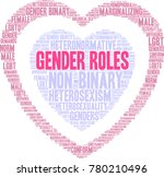 gender roles word cloud on a... | Shutterstock .eps vector #780210496