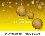 christmas light vector... | Shutterstock .eps vector #780211105