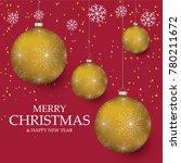 christmas light vector... | Shutterstock .eps vector #780211672