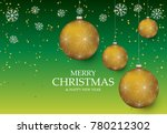 christmas light vector... | Shutterstock .eps vector #780212302