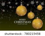 christmas light vector... | Shutterstock .eps vector #780215458