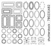 set of hand drawn frames | Shutterstock .eps vector #780231682