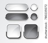 black and white button set the... | Shutterstock .eps vector #780235072