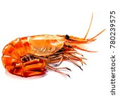 red boiled prawn  cooked tiger... | Shutterstock . vector #780239575