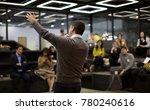 presenter presenting. business... | Shutterstock . vector #780240616
