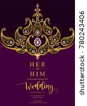 indian wedding invitation card... | Shutterstock .eps vector #780243406