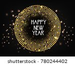 new year  2018  | Shutterstock .eps vector #780244402