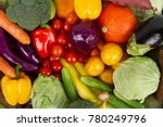 different vegetables and fruits ... | Shutterstock . vector #780249796