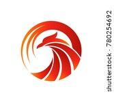 luxury phoenix logo vector | Shutterstock .eps vector #780254692