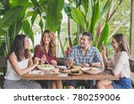 portrait of group of four best... | Shutterstock . vector #780259006