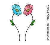 tulip vector illustration....   Shutterstock .eps vector #780259312