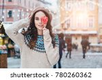 winter motivation and sale... | Shutterstock . vector #780260362