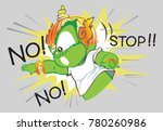 thai giant acting and saying no ... | Shutterstock .eps vector #780260986