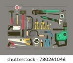 set of tools for construction... | Shutterstock .eps vector #780261046