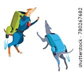 dogs superheroes are flying... | Shutterstock .eps vector #780267682