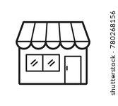 store icon  line art   outline...   Shutterstock .eps vector #780268156