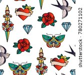 hand drawn traditional tattoos. ... | Shutterstock .eps vector #780271102