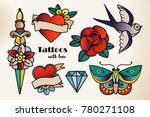 hand drawn traditional tattoos. ... | Shutterstock .eps vector #780271108