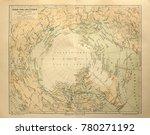 illustrative editorial. old map ... | Shutterstock . vector #780271192
