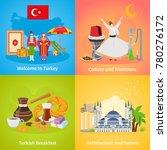 turkey 2x2 design concept set... | Shutterstock . vector #780276172