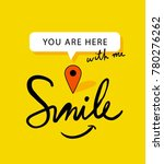 you are here with me graphic... | Shutterstock .eps vector #780276262
