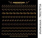 premium golden dividers  and... | Shutterstock .eps vector #780278716