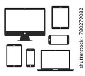 device screen icon set. phone... | Shutterstock .eps vector #780279082
