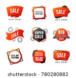 collection of sale discount...   Shutterstock .eps vector #780280882